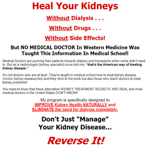 Stop Kidney Problems Naturally